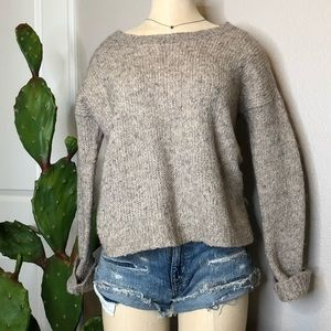 Aerie neutral cozy crew neck seater Sz. Small